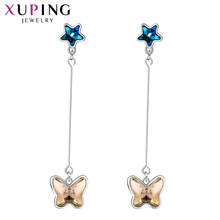 Xuping Butterfly Shape Dangle Earrings Crystals from Swarovski Lovely Jewelry Sweet Little Fresh Gift for Women Girls S149-20514 swarovski lovely crystals mini 5242904