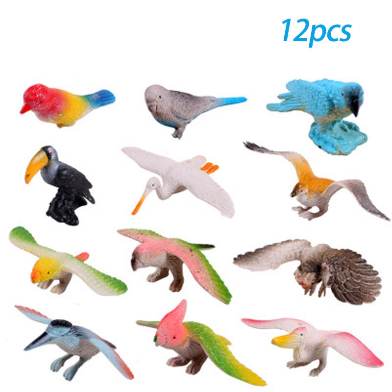 Toy Hot Children Simulation-Model Stall-Selling-Toys Animal Education Birds for Early-Childhood