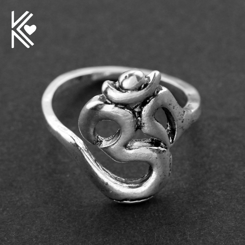 Indian Jewelry OHM Hindu Buddhist AUM OM Ring Hinduism Yoga India Outdoor Sport for Women/Men Ring Religious Symbol Jewelry