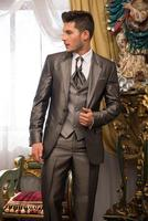 Fashion Mens Suits Event Stage Suits Wedding Best Man Groomsmen Tuxedos Custom C324