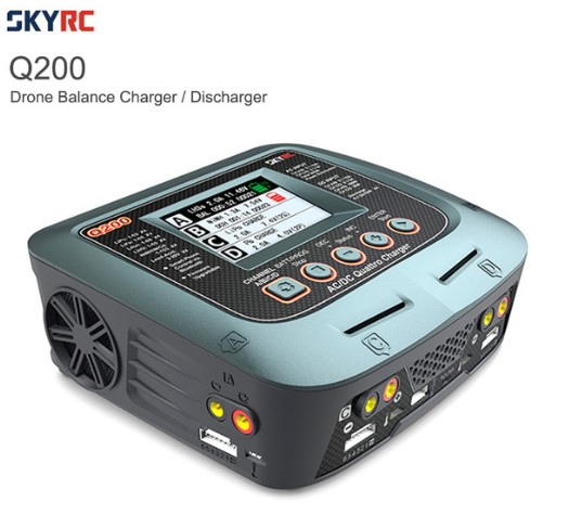 SKYRC Q200 Intelligent Charger/Discharger AC/DC Drone Balance Charger For Lipo/LiHV/Lithium-iron/Ion/NiMH/NiCD/Lead-acid Battery