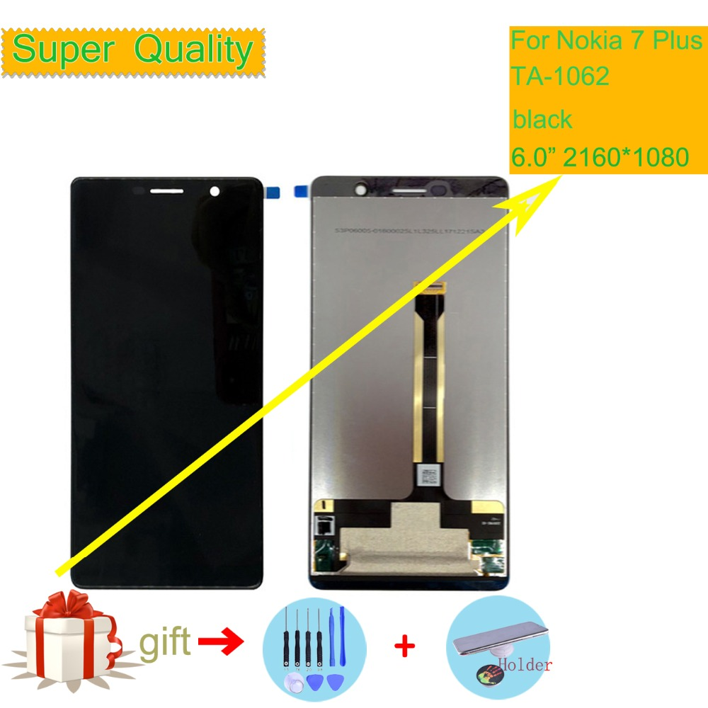 6 0 ORIGINAL Display for Nokia 7 Plus LCD 7Plus Display Touch Screen TA 1062 LCD