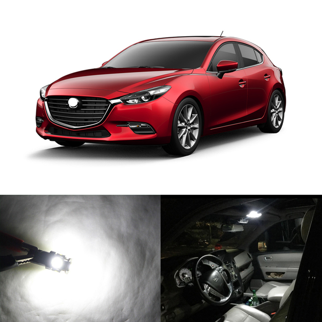 Direct Fit For Mazda 3 Hatchback 2014 2017 WHITE Led Interior Package Kits  Replace Bulbs