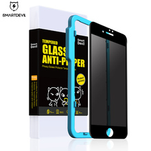 SmartDrvil Tempered Glass For iPhone X Privacy Anti Peeping Screen Protector 3D Anti-Glare Film 6 7 8 Toughened