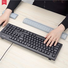 лучшая цена Ergonomic Memory Foam Keyboard  Pad Mouse Wrist Rest Support  for Computer, Laptop, PC Gaming - Easy Typing Wrist Pain Relieve