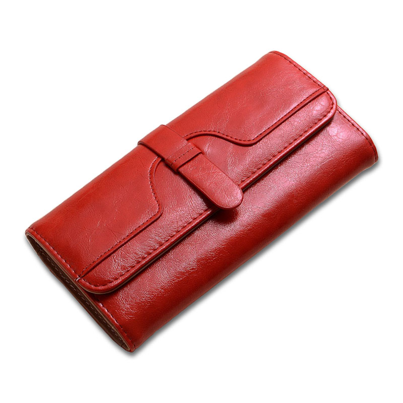 Baellery Red Wallet Women Leather Belt Luxury Design Womens Wallets and Purses Female Coins Purse Credit Card Holder Long Vallet недорго, оригинальная цена