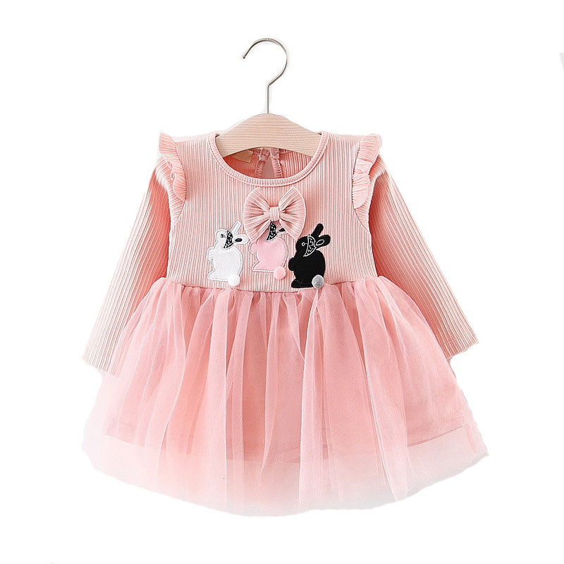 d34e2f3f7 2018 New Toddler Kids Autumn Elegant Lace Dress for Baby Girls Cute ...