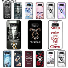 MaiYaCa shadowhunters Luxury Unique Design Phone Cover for Samsung note 3 4 5 7 8 9 Huawei P9 lite mate 20 X Pro case coque(China)