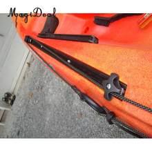 MagiDeal – support de Base en aluminium pour bateau gonflable, 60cm de Long, avec 4 vis, noir