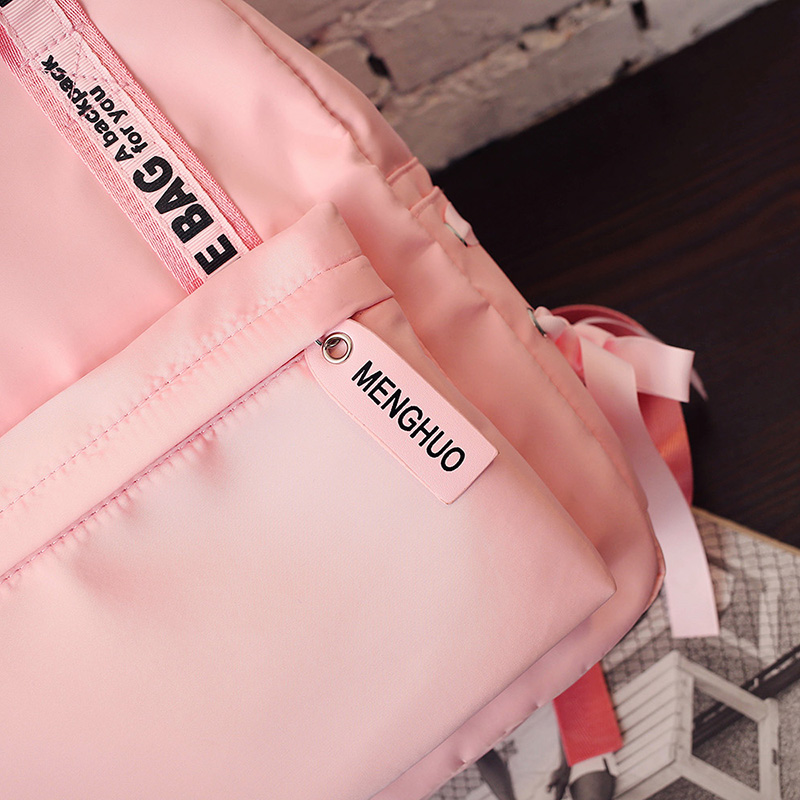 Menghuo Large Capacity Backpack Women Preppy School Bags For Teenagers Female Nylon Travel Bags Girls Bowknot Backpack Mochilas (41)