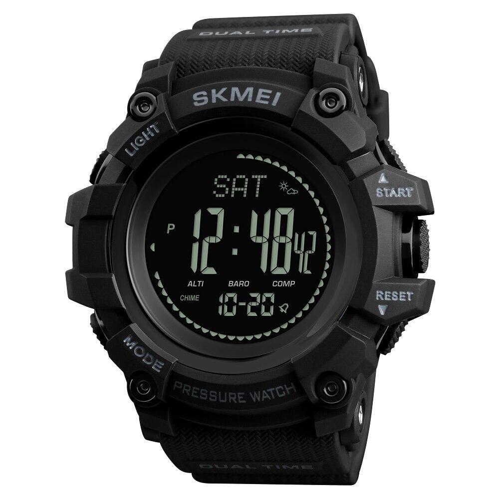 Мужские спортивные часы SKMEI, часы с шагомером, цифровые часы, альтиметр, барометр, компас, термометр, погодные мужские часы