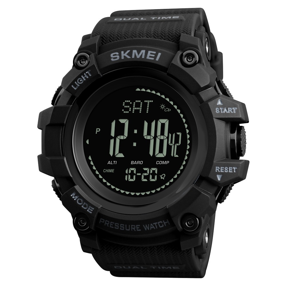 <font><b>SKMEI</b></font> Brand Mens Sports Watches Hours Pedometer Calories Digital Watch Altimeter Barometer Compass Thermometer Weather Men Watch image