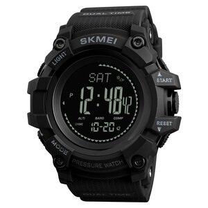 Image 1 - SKMEI Merk Mens Sport Horloges Uur Stappenteller Calorieën Digitale Horloge Hoogtemeter Barometer Kompas Thermometer Weer Mannen Horloge
