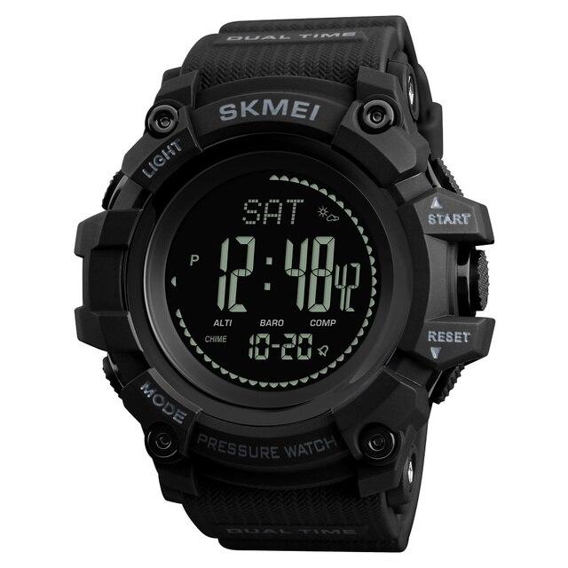 SKMEI Merk Mens Sport Horloges Uur Stappenteller Calorieën Digitale Horloge Hoogtemeter Barometer Kompas Thermometer Weer Mannen Horloge