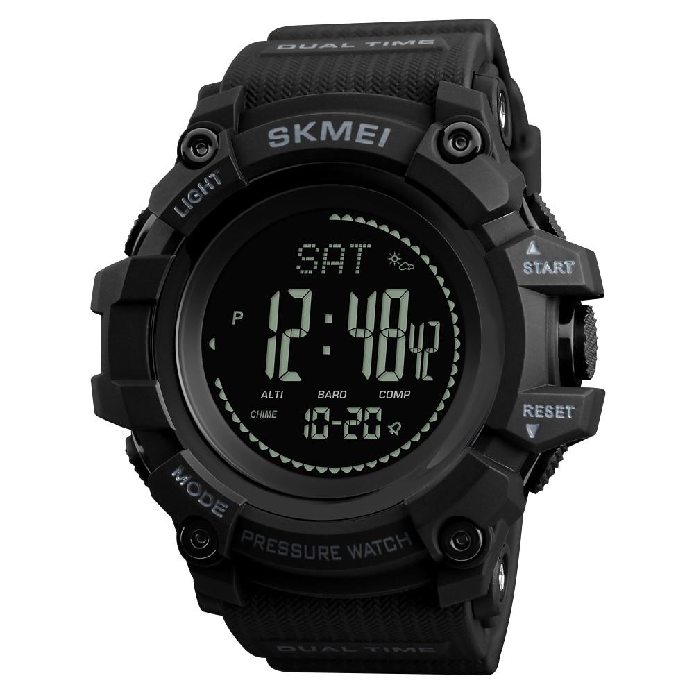 SKMEI zegarki sportowe męskie marki godzin krokomierz kalorii zegarek cyfrowy barometr wysokościomierz kompas termometr pogoda mężczyzn zegarek w Zegarki cyfrowe od Zegarki na  Grupa 1