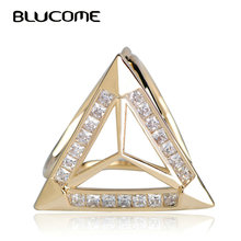 Blucome Luxury Rhinestones Scarf Buckles Full Zircons Wedding Copper Corsage Pin Jewelry Women Girls Clothes Bags Clips Brooches