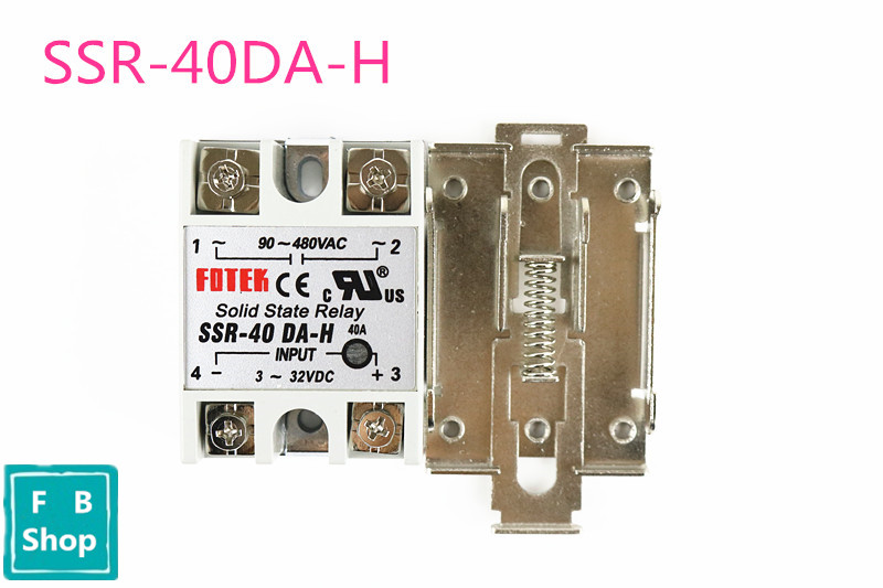 AC-AC 40A 80-280VAC 24-380VAC SSR-40AA SSR-40DA SSR-40DA-H SSR-40VA Gray Solid State Relay DIN Rail Mount 40a dc control ac three phase solid state relay ssr 40a zg33 40da