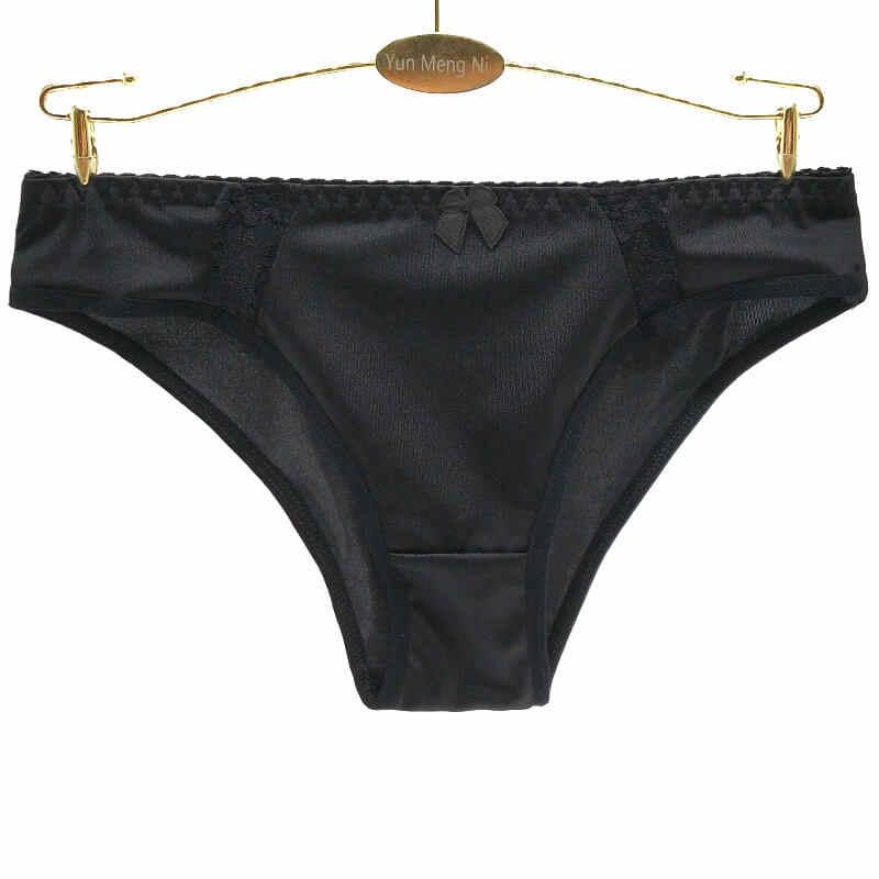 10 のパックセクシーなサテンレースアップビキニブリーフ女性の下着アンゴラ市場の女性の絹のパンツ女性のパンティーランジェリー親密な