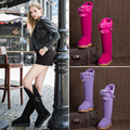 STARFARM shoes women ugs australia sheep wool genuine leather knee high fur snow winter boots woman ladies SFWB039