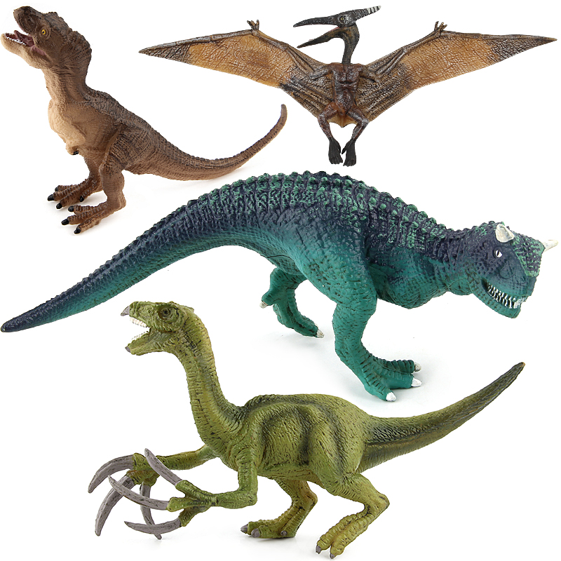 Jurassic Tyrannosaurus Pterosaur Carnotaurus Dinosaurs Models Plastic Therizinosaurus Animal Action Figures Collection Toys #E 12pcs set children kids toys gift mini figures toys little pet animal cat dog lps action figures