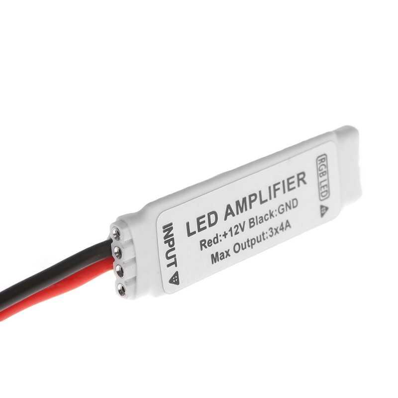 Mini amplificateur de Signal répéteur pour 5050 3528 SMD RGB lumière LED bande DC 12V