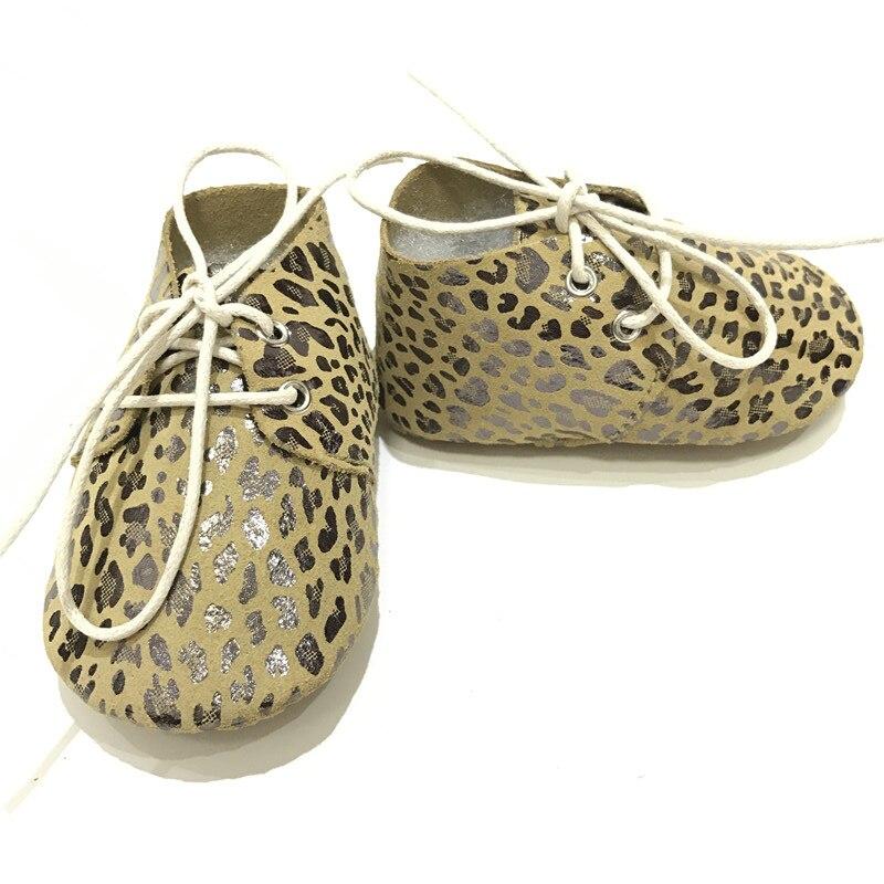 Hoge kwaliteit metallic Leopard echt leder Baby Oxford schoenen Baby - Baby schoentjes - Foto 3