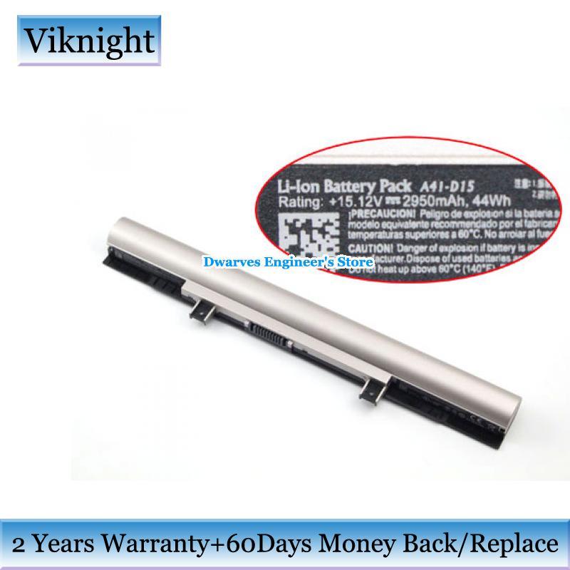 Batterie d'origine A41-D15 A31-D15 A32-D15 A42-D15 15.12 V 2950 mAh, 44Wh batterie Li-ion pour MEDION Akoya P6670 P6661 akoya MD99620