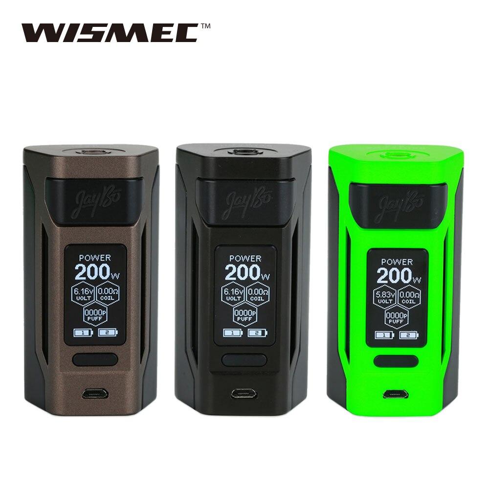 D'origine WISMEC Reuleaux RX2 20700 200 W TC MOD 1.3 pouces Grand écran Wismec RX2 Boîte Mod Aucune Batterie e Cig Vaping Mod