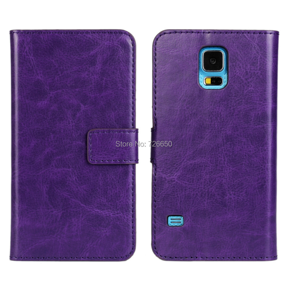 Crazy Horse Leather Case Cover for Samsung Galaxy S5 Phones with TV Stand + Free Screen Protector