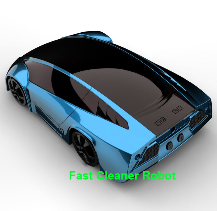 Free Shipping 2016 Fashion Super Sports Car Design Auto Robot Vacuum Cleaner With Handheld Portable Vacuum Cleaner Double Use