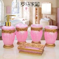 Resin Bathroom Set Of Five Pieces Fashion Bathroom Supplies Bathroom Kit For Wedding Gift At Home Accessories