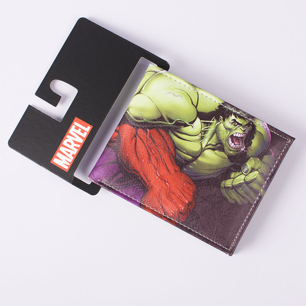 Comics DC Marvel Purse Men Women Avengers Cartoon Wallets Thor America Captain Hulk Series PVC Money Bags Classic Leather Wallet dc marvel comics wallets cartoon anime iron man spiderman captain america hulk creative gift purse kids folder short wallet