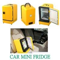 Auto Refrigerator Car Fridge Mini Portable Double Use 12V 7L Multi Function Warmer Travel Home Camping Cooler