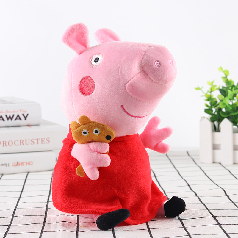 Peppa Pig Little George Pepe Pig Family Plush Toy 25cm Filled Doll Party Plush Toys Children's Birthday Gifts 1