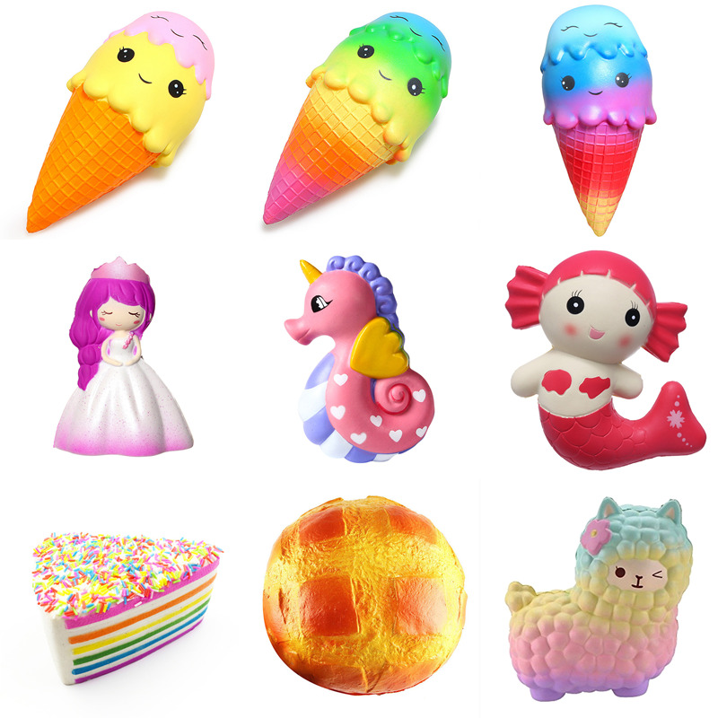 22cm squishy squeeze Slow Rising cream easter bunny beautiful faery sheep little mermaid rose cake pineapple bun toy