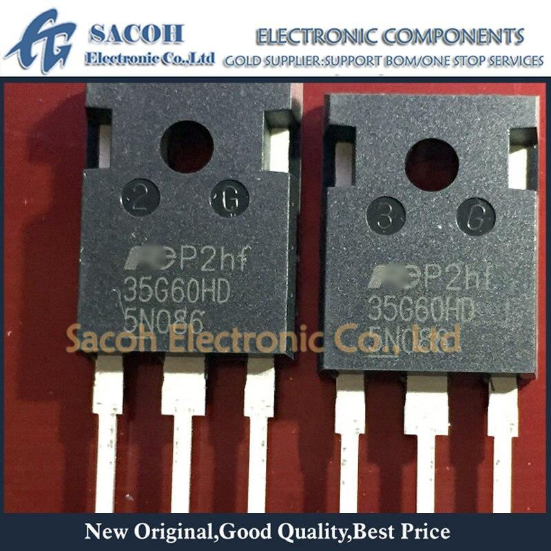 Б/у оригинальный 5 шт./лот FGW35N60HD 35G60HD или FGW35N60H 35G60H 35G60 35N60 TO-247 35A 600V высокоскоростной дискретный бтиз