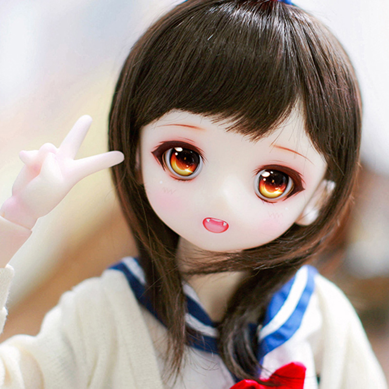 Full Set 1/4 BJD Doll LOVELY Airi Joint Doll For With Glasss Eyes Baby Girl Birthday Christmas Gift Present-in Dolls from Toys & Hobbies    1