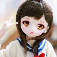 Full Set 1/4 BJD Doll LOVELY Airi Joint Doll For With Glasss Eyes Baby Girl Birthday Christmas Gift Present