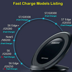 Image 4 - Qi Wireless Fast Charger มาตรฐานพับได้ Pad ชาร์จสำหรับ Samsung Galaxy S7 Edge S8 S9 S10 S10e หมายเหตุ 8 9 iphone 8 plus X XS XR