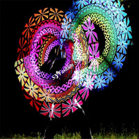 JA50 Бальные Танцы светодио дный легкие костюмы светодио дный POI шоу stick полноцветная цифровая Flash сверкающих палку dj бар этапе выступлений