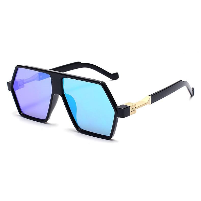 ddfe75597 الهيب هوب شقة أعلى 2016 الرجال النساء أزياء مرآة شمس الهبي روك الراب  الشمسيات سيدة UV400 الذكور بارد نظارات شمسية في الهيب هوب شقة أعلى 2016  الرجال النساء ...