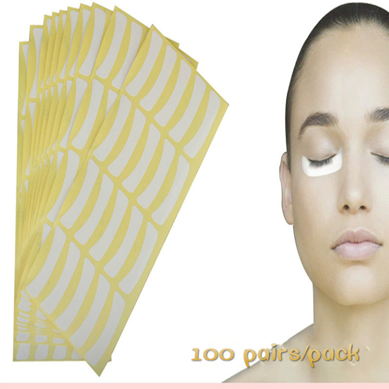 Hot 100pairs/pack Paper Patches Eyelash Under Eye Pads Lash Eyelash Extension Paper Patches Eye Tips Sticker Wraps Make Up Tools