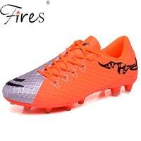Yangınları erkek chuteiras Profesyonel futbol ayakkabısı Uzun Sivri Açık Marka Futbol Ayakkabıları Erkekler Için Spor Futbol Çizme Çocuk Spor Ayakkabı