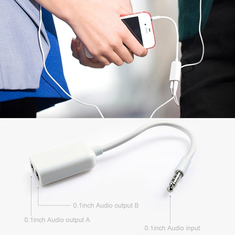 3.5mm Dual Jack Earphone Headphone Splitter Adapter For Mobile Phone Tablet Laptop MP3 Player Audio Devices Transmission Cables