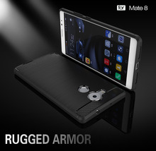 Huawei Mate 8 Case Silicon for Mate8 Cover Soft Carbon Fiber Brushed Mobile Phone Fundas Coque Etui Accessory