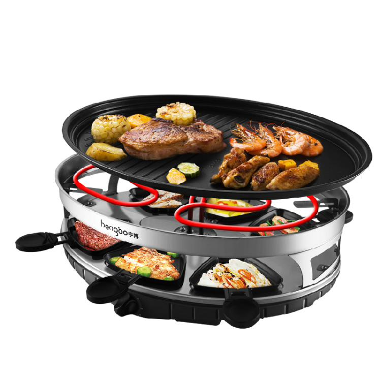 2016 Promotion New Infrared Gas Burner Smokeless Large Double Electric Hotplate Kebab Machine Bbq Pot Household Barbecue Grill