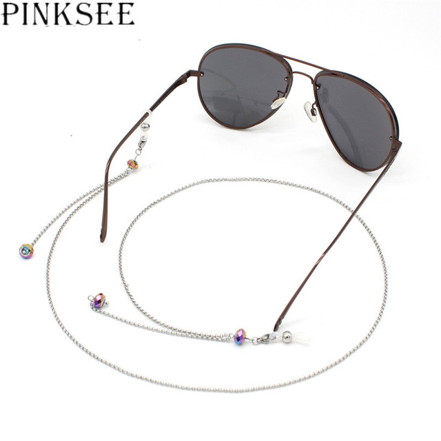 17682cdf8b0 PINKSEE Simple Style Women s Sunglasses Chain Reading Eyeglass Accessories  Stainless Steel Glasses Chain Jewelry Chain