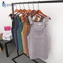 11b6860a88 Moda 2018 Mulheres Coreanas Simples Elegante Bolsos Suspender Saia Sem  Mangas de Veludo Macacão Saias Colete