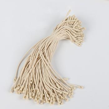 Dobra jakość powiesić tag ciąg w odzieży powiesić tag sznury sznurek do odzieży sznurowanie cena hangtag lub pieczęć tag tanie i dobre opinie Wszywki odzieżowe Z tworzywa sztucznego NYLON Ekologiczne Zmywalna Recyled Torby Buty Tłoczone AC-009 Hang Tag String