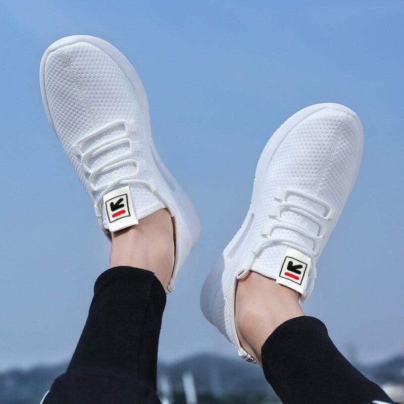 Pure Color Light Casual Shoes Mesh Cloth Men's Shoes Breathable Walking Jogging Shoes Large Size Men's Shoes 46 (2)